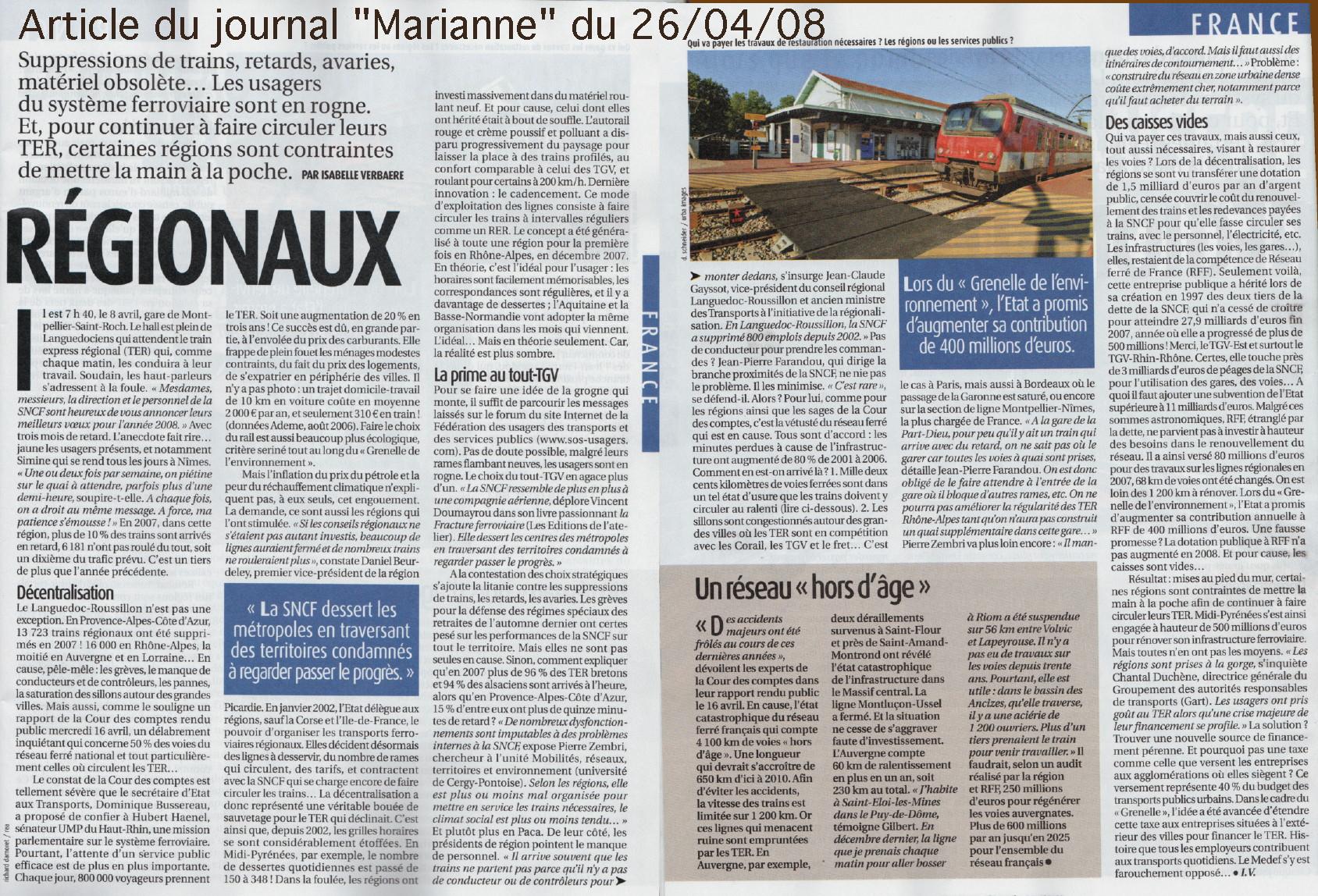 Mai 2008 futsp - Journal marianne adresse ...